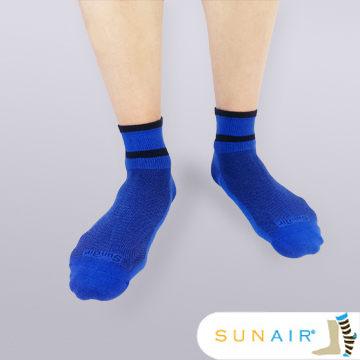 sunair 滅菌除臭襪子-運動薄襪 短筒 (L25~29) (藍+黑) /SA2902