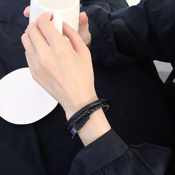 現貨-手工個性手環手鍊繩手繩手鐲日韓復古潮休閒男士情侶女士學生韓版A21
