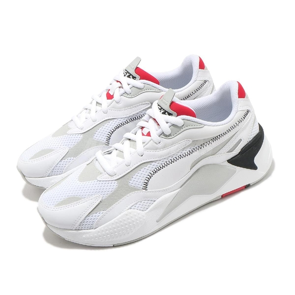Puma 休閒鞋 RS-X3 Millenium 白 灰 紅 小白鞋 男鞋 女鞋 復古 運動鞋【ACS】 37323602