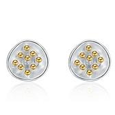 925純銀耳環(耳針式)-大方優雅質感生日情人節禮物女飾品73al18【巴黎精品】
