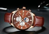 BOYZHE新款爆款男士全自動機械手表6針星辰透底時尚商務風格手表 韓先生