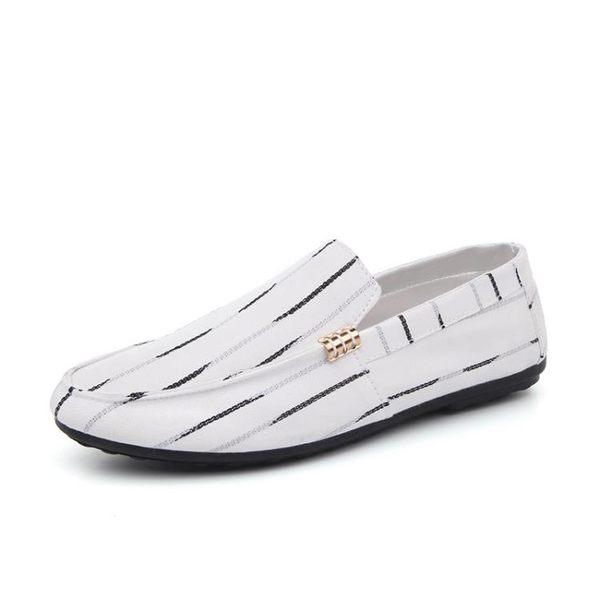新款夏季潮休閒男韓版豆豆鞋布鞋一腳蹬懶人鞋潮社會小伙鞋子【叢林之家】