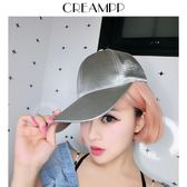 韓版進口絲光色丁特訂加長加寬檐百搭時髦棒球帽鴨舌帽子