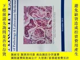 二手書博民逛書店Archives罕見of Pathology & Laboratory Medicine 2012 11 病理學奇