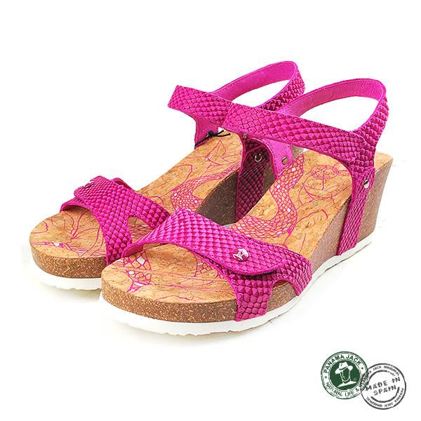 【Panama Jack】蛇紋楔形女涼鞋 桃紅 (PSW47-ROS)