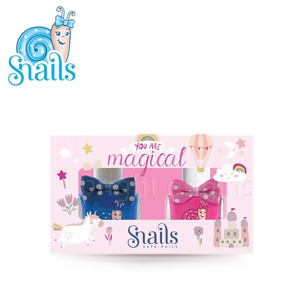 Snails 小小鍋牛水性兒童指甲油禮包系列-童話款(兩瓶組)