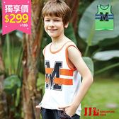 網路獨家-JJLKIDS 男童 耀眼線條字母純棉背心(2色) 售價:299