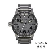 【官方旗艦店】NIXON DIPLOMAT 自動機械錶 藍寶石鏡面 高階款 消光灰 潮人裝備 潮人態度 禮物首選