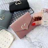 韓版時尚短款復古層錢包百搭簡約休閒迷你錢夾女包