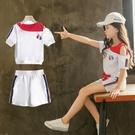 女童運動套裝 網紅女童裝洋氣夏裝2021新款套裝時髦大童女裝小孩衣服寶寶兩件套 維多原創