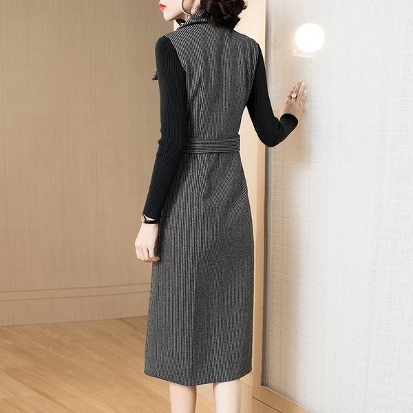 (現貨+預購 RN-girls)-精品OL背心裙兩件式長袖套裝