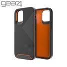 Gear4 BatterSea iPhone 12 Pro Max 6.7吋 抗菌防摔條紋殼-黑/橘色
