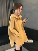 長袖t恤女ins超火上衣2019秋季新款韓版寬鬆大碼中長款百搭打底衫 米娜小铺