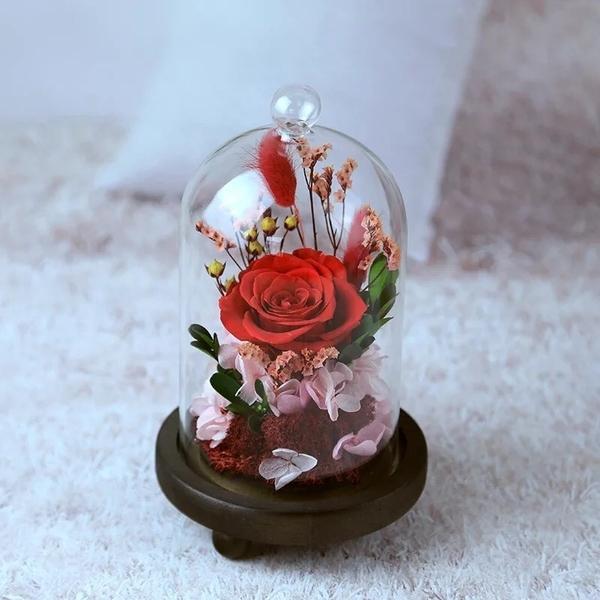 永生花玻璃罩系列,共三款