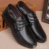 春季新品皮鞋男韓版英倫商務休閒鞋子男軟底軟面繫帶低筒鞋子