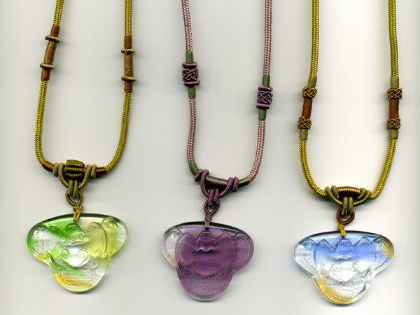 鹿港窯~開運古法水晶琉璃雕項鍊~佩福◆附精美包裝◆免運費送到家
