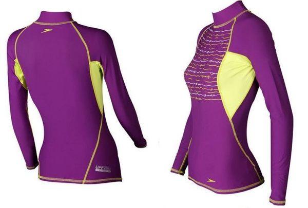[陽光樂活] SPEEDO 成人休閒長袖防曬衣 Fashion Essentials紫-SDSOJ14023PL