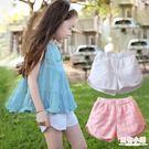 女童夏季外穿休閒短褲韓版復古褲兒童白色純棉百搭可愛寬鬆熱褲子