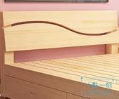 木床 實木床1.8米現代簡約雙人床主臥1.5出租房簡易床經濟型1.2單