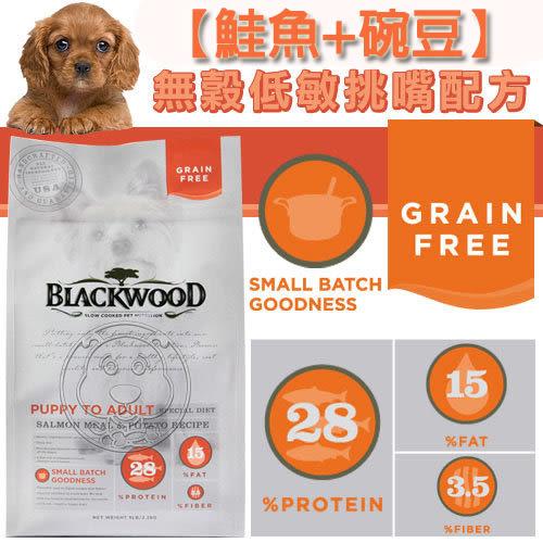【zoo寵物商城】BLACKWOOD 柏萊富《全犬│鮭魚&豌豆》無穀低敏挑嘴1LB/450g