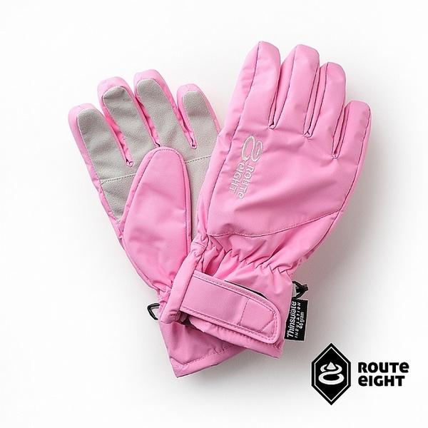 【Route 8八號公路】成人款 - KREATE 3M 防水保暖手套 (粉紅)