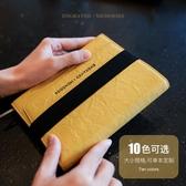韓國小清新創意歐式復古商務皮面筆記本子記事本手賬本男女