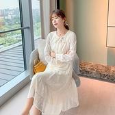 蛋糕裙洋裝 2020雪紡連衣裙女中長款秋季新款打底裙很仙的蛋糕裙法式梗桔