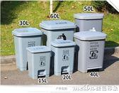 60L腳踏垃圾桶辦公創意家用客廳臥室大號廚房有蓋商用桶戶外大容量igo 美芭