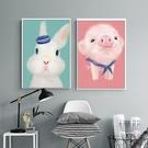 十字繡線繡小件臥室動物兒童房小幅簡單繡新...