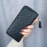 新款女士錢包女長款日韓版時尚大容量手拿包原宿復古零錢包 雲雨尚品