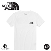 【The North Face 男 快乾口袋短袖棉T《白》】46J3/棉T/t恤/短袖上衣/快乾短袖