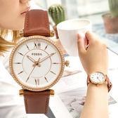FOSSIL CARLIE 羅馬魅力晶鑽腕錶 ES4428 熱賣中!