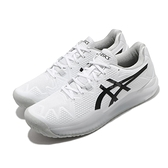 Asics 網球鞋 Gel-Resolution 8 男 白 黑 穩定 耐磨 亞瑟士【ACS】 1041A079101