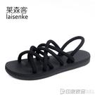 一鞋兩穿涼拖鞋男夏季2018新款外穿情侶涼鞋男韓版潮流羅馬沙灘鞋 印象