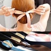 Qmishop 韓國最新海綿寶寶 蝴蝶結綁帶丸子頭海綿盤髮器 DIY髮器 髮包【H027】