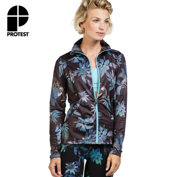 PROTEST 女 FIT系列 運動外套 (真實黑) SUBLIME 17 FULL ZIP TOP