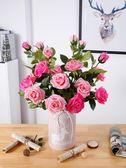 新年89折假玫瑰花束仿真花塑料花裝飾客廳插花室內干花香皂保濕玫瑰花單支 芥末原創