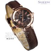SHEEN SHE-4029PGL-5A 優雅細膩 小圓錶 施華洛世奇水晶 女錶 SHE-4029PGL-5AUDF CASIO卡西歐