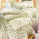 花彩饗宴(白) 40支棉七件組-5x6.2呎雙人-鋪棉床罩組[諾貝達莫卡利]-R7026W-M