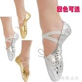 舞蹈鞋  夏季新款休閒軟底練功鞋肚皮舞鞋女金色豹紋芭蕾舞鞋舞蹈鞋 aj4579『美鞋公社』