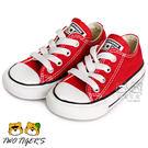 CONVERSE ALL STAR 紅色 低筒 基本款 鞋帶款 帆布鞋 小童鞋 NO.Q3582