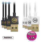 REMAX WK DESIGN 蟲洞 Micro 鎳金插頭 數據線 1米 USB充電線/傳輸線 黑/白 WDC-052