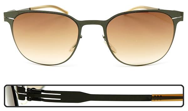 【台南 時代眼鏡 ic! berlin】wallis gun metal 德國薄鋼墨鏡太陽眼鏡 嘉晏公司貨可上網登錄保固