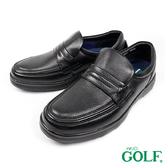 【GOLF】日本4E寬楦手工氣墊休閒鹿皮鞋 黑色(GF5011-BL)