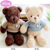 小熊泰迪熊絨毛娃娃玩偶毛衣款40公分 45-00137【77小物】