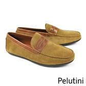 【Pelutini】時尚麂皮樂福鞋(7648-TANS)