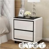 床頭櫃北歐簡易小型床頭櫃實木腿臥室現代簡約迷妳床邊收納櫃窄櫃經濟型LX 愛丫愛丫