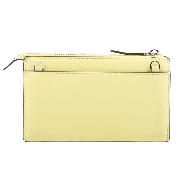 【KATE SPADE】荔枝紋皮革皮夾式斜背包(檸檬黃) WLRU5470 700