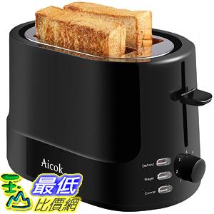 [106美國直購] 烤麵包機 Aicok Toaster 2 slice with 7 Toast Shade Settings and Defrost Functions Easy to Clean