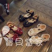 2018春夏新款韓版蝴蝶結包頭女童涼鞋公主鞋單鞋寶寶皮鞋兒童鞋子